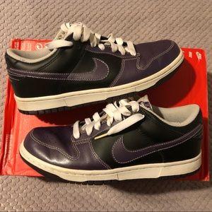 Nike SB Purple/Black Leather Dunk Low Sneakers